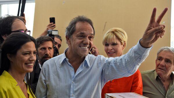 Daniel Scioli, candidato presidencial del gobernante Frente para la Victoria (FpV) - Sputnik Mundo