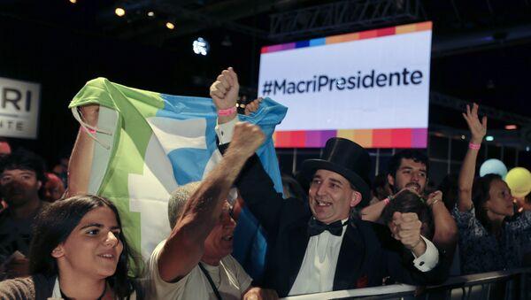 Partidarios del candidato opositor a la Presidencia argentina, Mauricio Macri - Sputnik Mundo