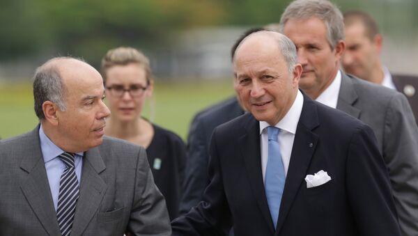 Ministro de Exteriores de Brasil, Mauro Vieira, y ministro de Exteriores de Francia, Laurent Fabius - Sputnik Mundo