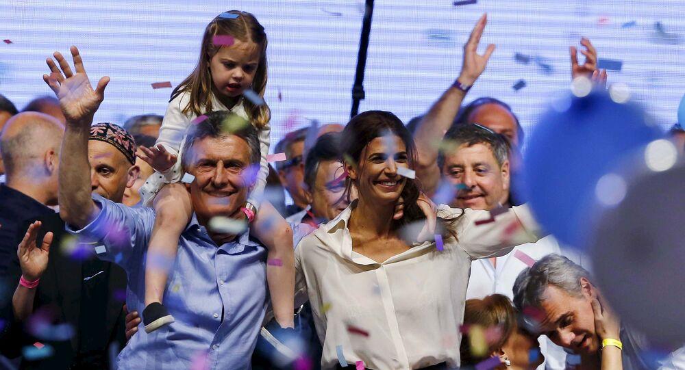 El presidente electo de Argentina Mauricio Macri