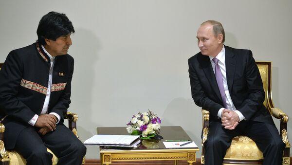 Presidente de Rusia, Vladímir Putin y presidente de Bolivia, Evo Morales - Sputnik Mundo