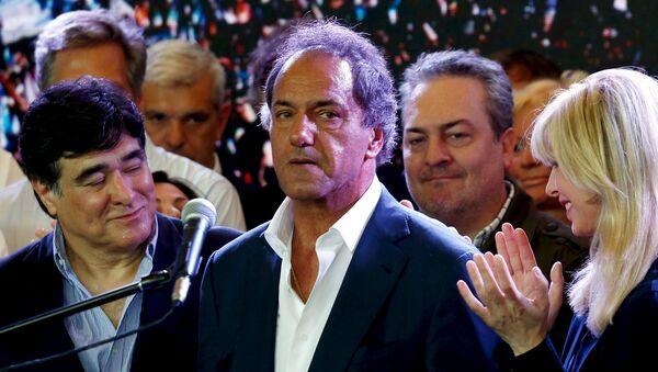 Daniel Scioli, candidato presidencial del Frente para la Victoria - Sputnik Mundo
