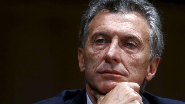Mauricio Macri, el presidente argentino - Sputnik Mundo