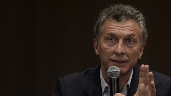 Argentina's president elect Mauricio Macri speaks during a press conference in Buenos Aires on November 23, 2015 - Sputnik Mundo