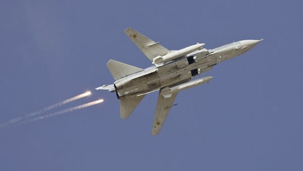Bombardero ruso Sukhoi Su-24 (Archivo) - Sputnik Mundo
