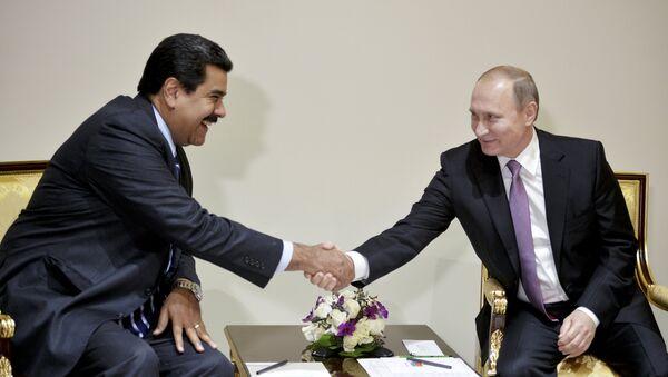 Presidente de Venezuela, Nicolás Maduro, y presidente de Rusia, Vladímir Putin (archivo) - Sputnik Mundo