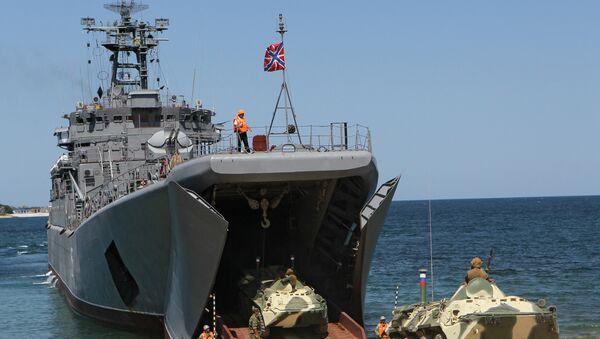 El buque de desembarco Yamal - Sputnik Mundo