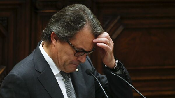 Artur Mas, presidente en funciones del Gobierno de Cataluña - Sputnik Mundo