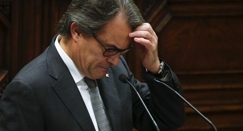 Artur Mas, presidente en funciones del Gobierno de Cataluña
