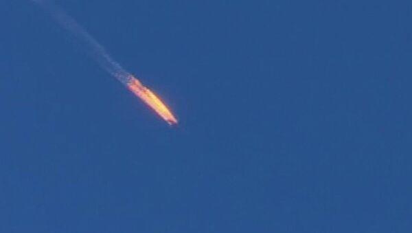 Caza Su-24 ruso, derribado por Turquía en noviembre de 2015 - Sputnik Mundo