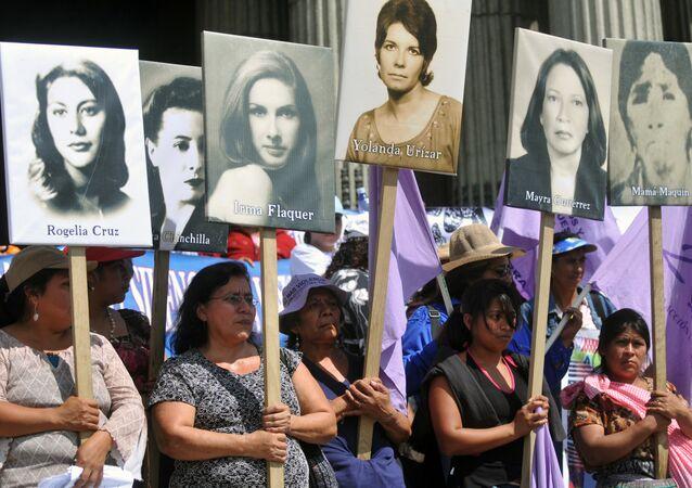 Una manifestación en contra de los feminicidios en América Latina en Guatemala (archivo)