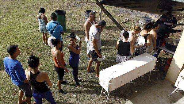 Migrantes cubanos cerca de la frontera entre Costa Rica y Nicaragua - Sputnik Mundo