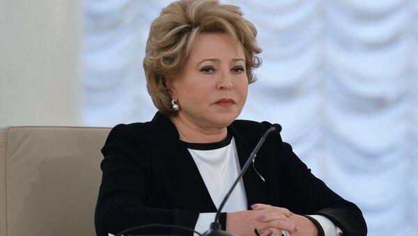 Valentina Matvienko,la presidenta del Consejo de la Federación (Senado ruso) - Sputnik Mundo