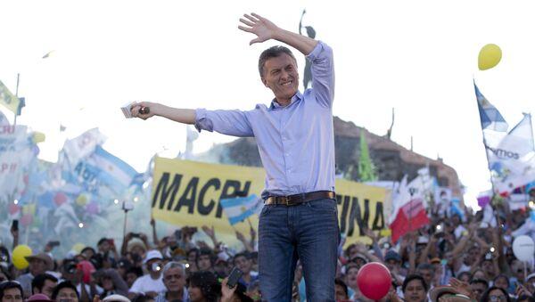 Mauricio Macru durante el cierre de su campaña electoral - Sputnik Mundo