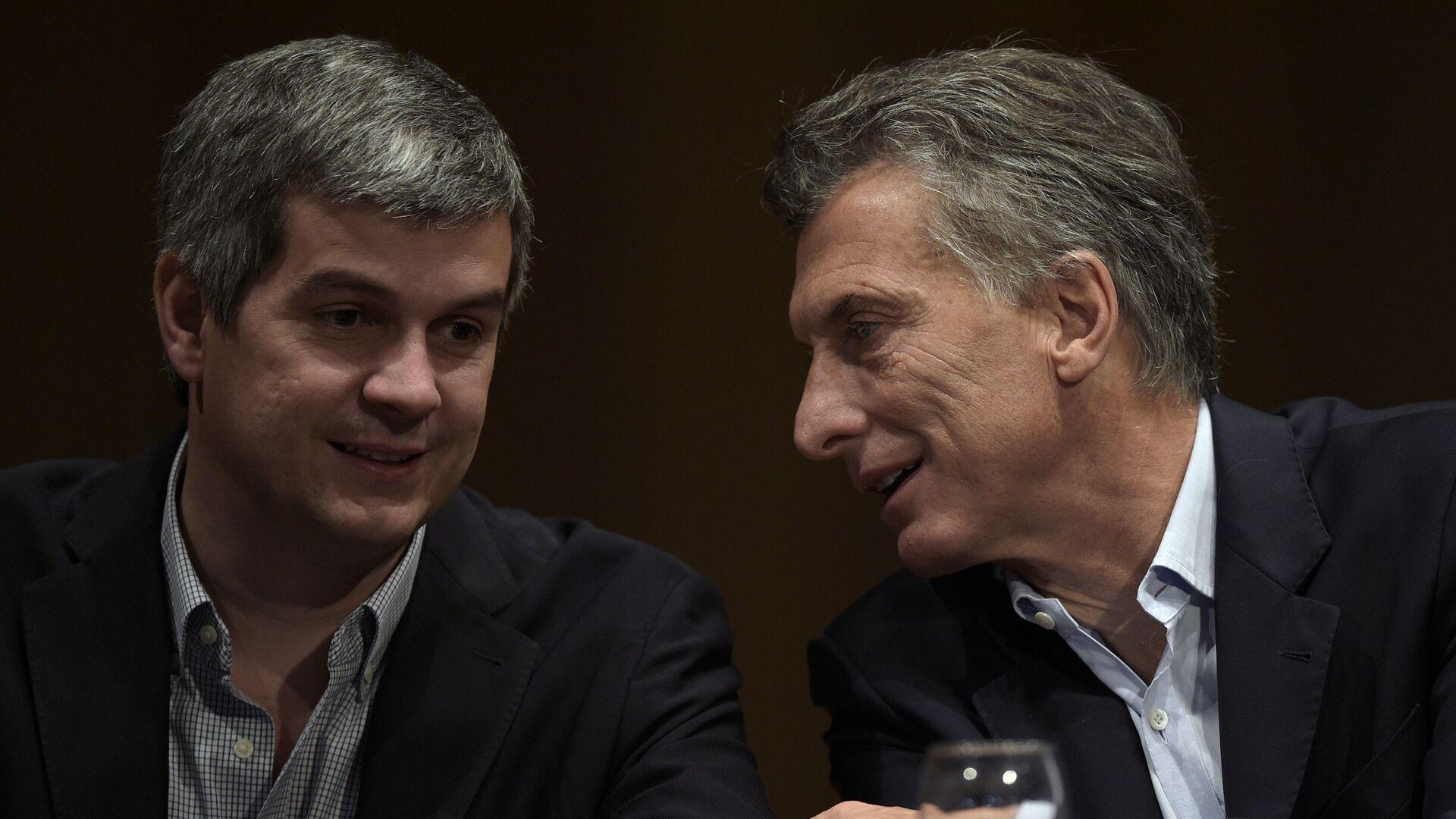 Presidente electo de Argentina, Mauricio Macry y jefe de campaña electoral, Marcos Peña - Sputnik Mundo, 1920, 20.08.2021