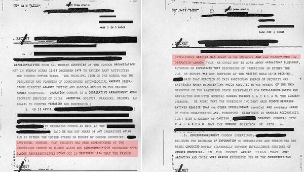 Un documento desclasificado de la CIA, que confirma la implicacion de Pinochet  en el plan Cóndor - Sputnik Mundo