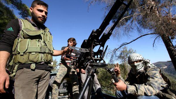 Milicias turcomanas apoyadas por Turquía en Siria - Sputnik Mundo