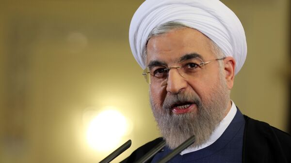 Iranian President Hassan Rouhani speaks during a press conference in Tehran on April 3, 2015. - Sputnik Mundo