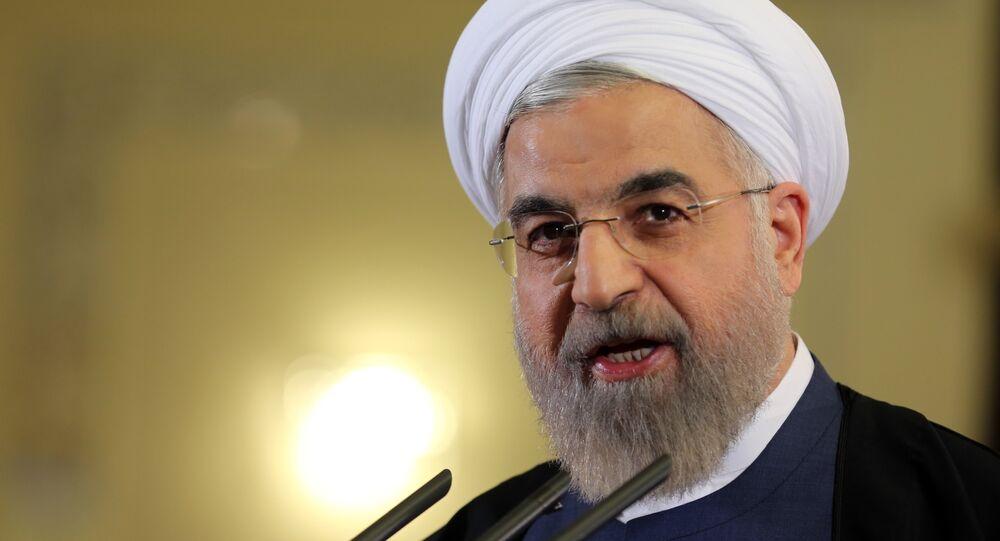 El presidente de Irán, Hasán Rohani (archivo)