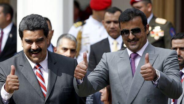 Presidente de Venezuela Nicolás Maduro y emir de Catar, jeque Tamim Bin Hamad Al Thani - Sputnik Mundo