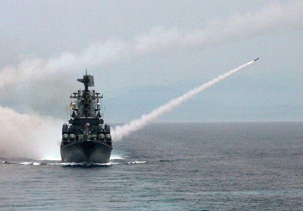 Crucero portamisiles Moskva - Sputnik Mundo