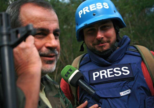 Sargon Hadaya, reportero de la cadena de televisión RT