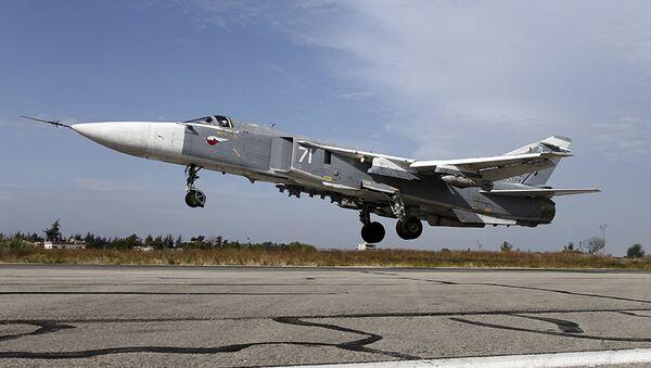 Bombardero ruso Su-24 - Sputnik Mundo