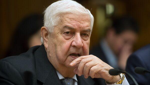 Walid Mualem, el ministro de Exteriores de Siria - Sputnik Mundo