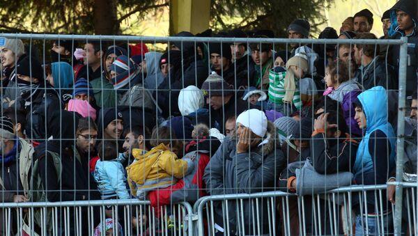 Refugiados en la frontera austriaca - Sputnik Mundo