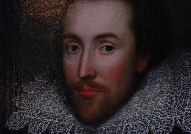 Retrato del famoso dramaturgo William Shakespeare