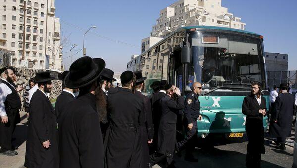 Parada de autobús, donde tuvo lugar el ataque a una israelí - Sputnik Mundo