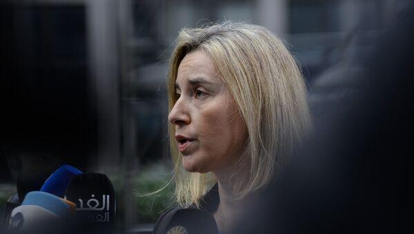 Federica Mogherin, jefa de la diplomacia europea - Sputnik Mundo