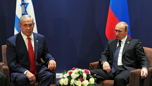 Primer ministro de Israel, Benjamín Netanyahu y presidente de Rusia, Vladímir Putin - Sputnik Mundo