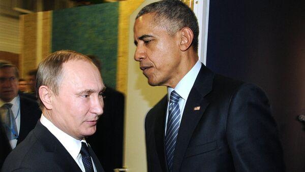 Presidente de Rusia, Vladímir Putin, y presidente de EEUU, Barack Obama - Sputnik Mundo