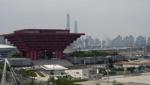 Headquarters of BRICS development bank in the Pudong development zone in Shanghai - Sputnik Mundo