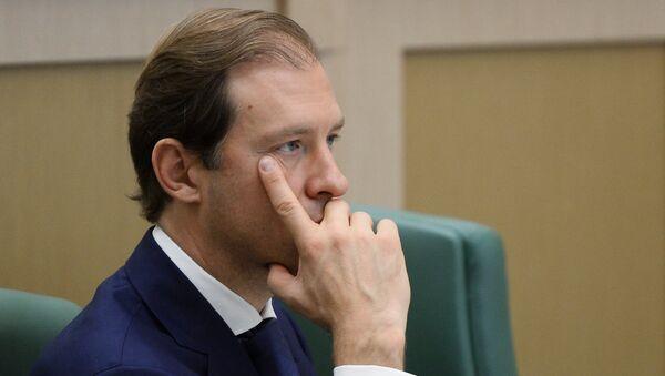 Denís Mánturov, ministro de Industria y Comercio de Rusia - Sputnik Mundo
