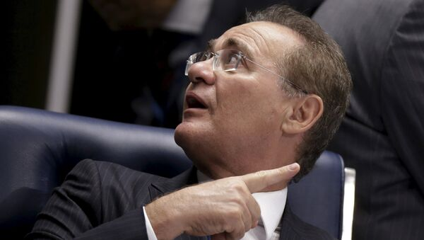 Presidente del Senado de Brasil, Renan Calheiros - Sputnik Mundo