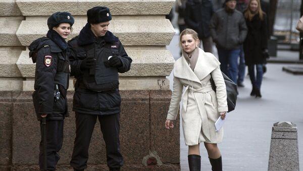 Policías en el centro de Moscú - Sputnik Mundo