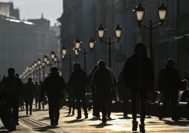 Una de las calles de Moscú