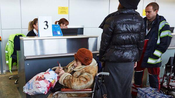 Control de pasaportes en el aeropuerto de Járkov - Sputnik Mundo