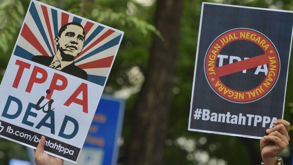 Los ciudadanos de Malasia protestan contra el TPP - Sputnik Mundo