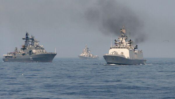 Maniobras navales Indra (archivo) - Sputnik Mundo