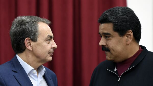 Expresidente del Gobierno de España, José Luis Rodríguez Zapatero y presidente de Venezuela, Nicolás Maduro (archivo) - Sputnik Mundo