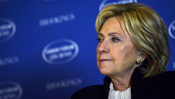 Hillary Clinton, exsecretaria de Estado de EEUU y la candidata a la presidencia - Sputnik Mundo