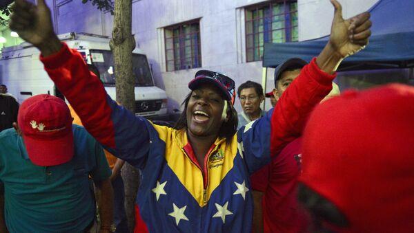Seguidores del actual presidente de Venezuela, Nicolás Maduro - Sputnik Mundo