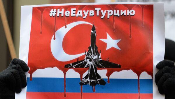Manifestación de protesta frente a la embajada de Turquía en Moscú - Sputnik Mundo
