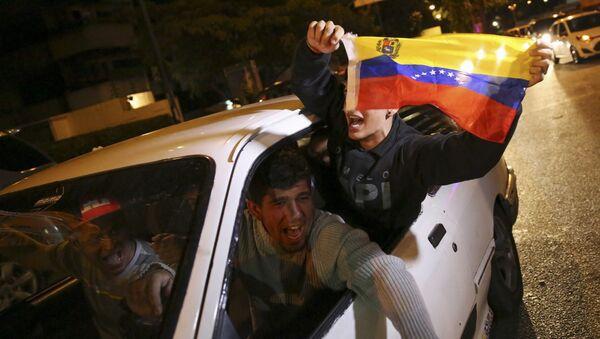 Partidarios de la coalición opositora MUD en Caracas - Sputnik Mundo