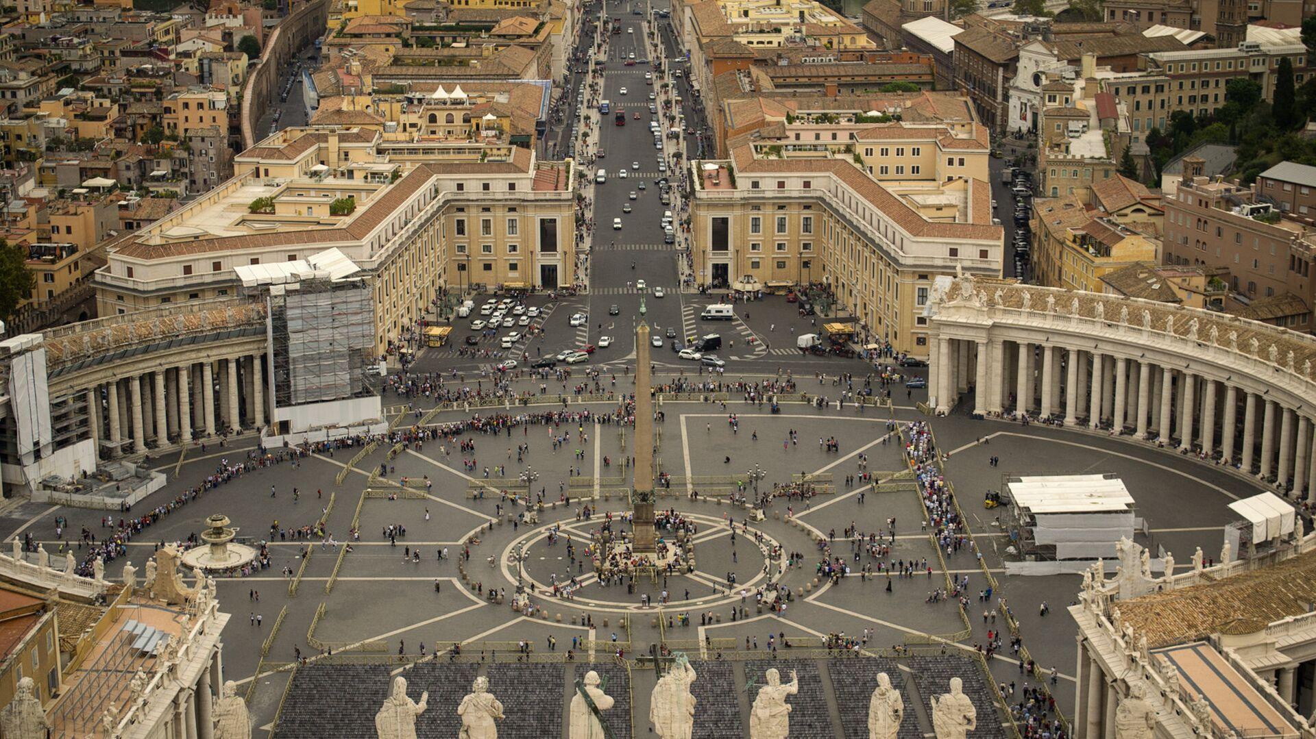 La Plaza de San Pedro, Vaticano - Sputnik Mundo, 1920, 21.06.2021