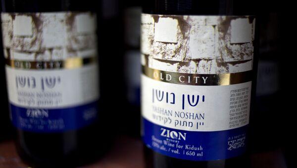 Vino producido en la territoria palestina de Cisjordania - Sputnik Mundo