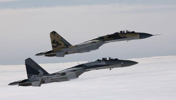 Cazas rusos Su-35 - Sputnik Mundo
